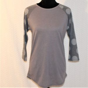 LulaRoe Long Sleeve T-shirt Small Gray